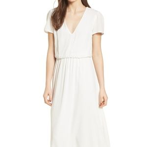 WAYF White Blouson Dress